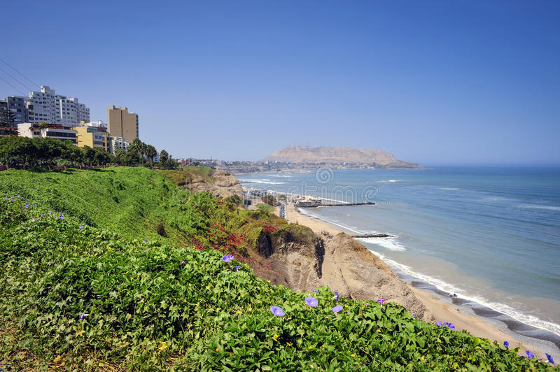 Miraflores District landscapes in Lima, Peru. South America stock images