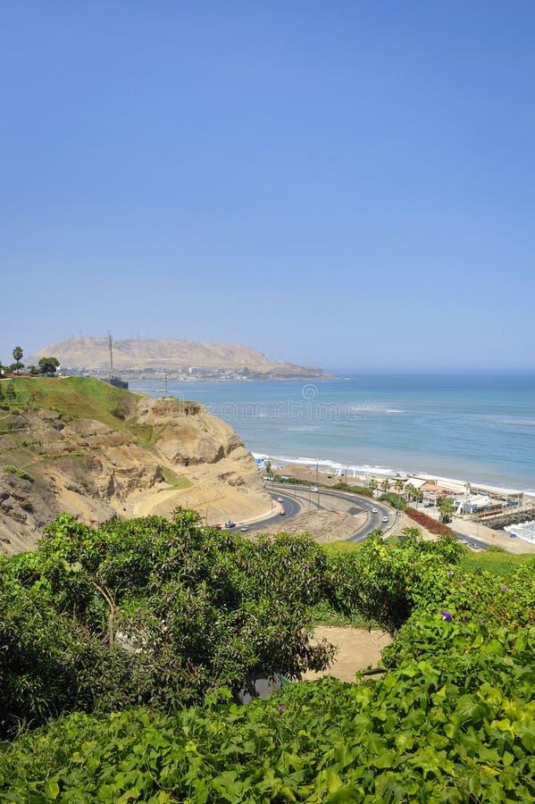 Miraflores District landscapes in Lima, Peru. South America stock photo
