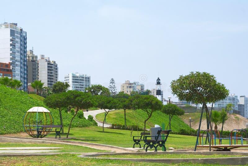 miraflores lima паркуют Перу стоковая фотография