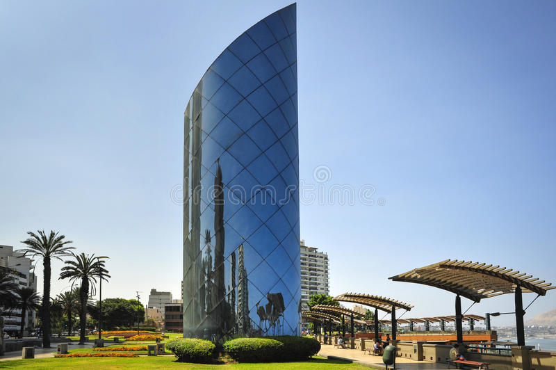 Miraflores Town landscapes in Lima, Peru. Miraflores modern Tower buildings landscapes in Lima Peru royalty free stock photos