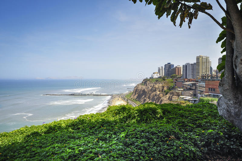 Miraflores Town landscapes in Lima ,Peru. Miraflores Town landscapes in Lima, Peru, South America royalty free stock image