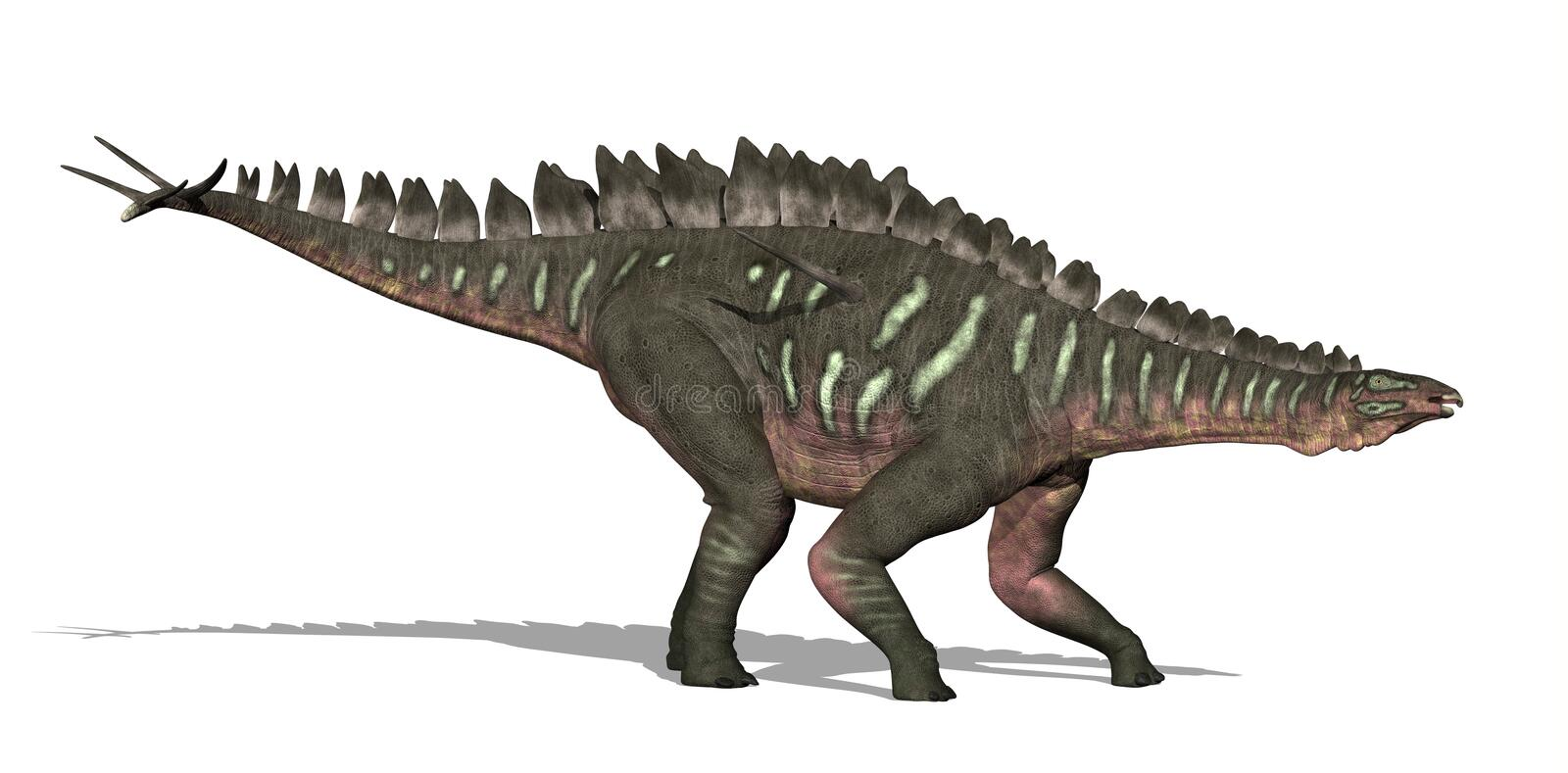Miragaia Dinosaur. The Miragaia dinosaur lived in what is now Portugal, during the Upper Jurassic Period - 3D render vector illustration