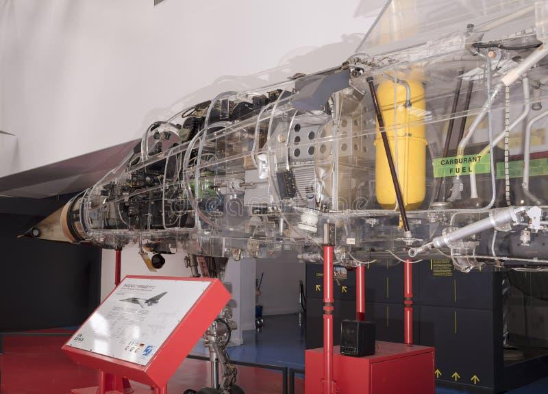 Mirage de Dassault F1C 1973 dans le musée de l'astronautique et du poids du commerce photo stock
