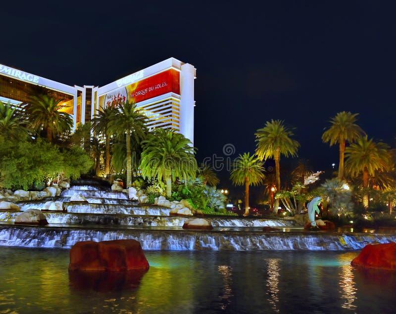 Mirage Hotel Casino, Las Vegas Strip stock photography