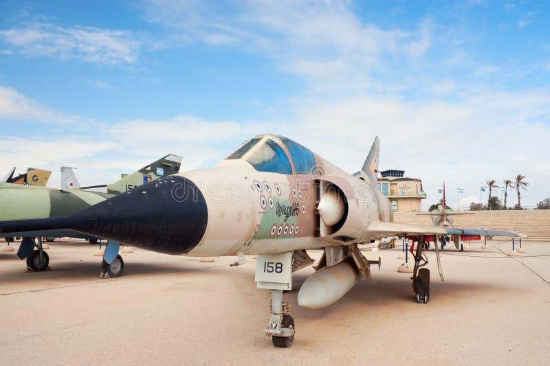 Mirage IIICJ d'IAF avec 13 inscriptions de mise à mort photos stock