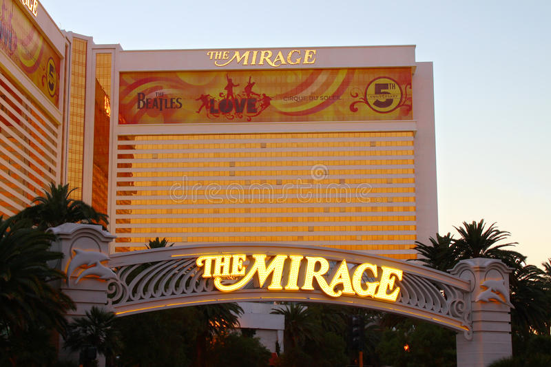 The Mirage in Las Vegas stock images