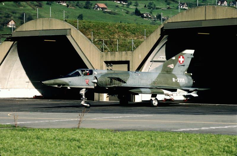 Miragem suíça IIIRS 1996 de Dassault da força aérea fotos de stock royalty free