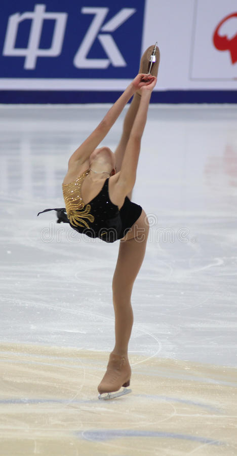 Mirai Nagasu (USA) lizenzfreie stockbilder