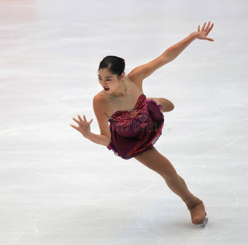 Mirai Nagasu von USA, Abbildung Eislaufstern stockfotos