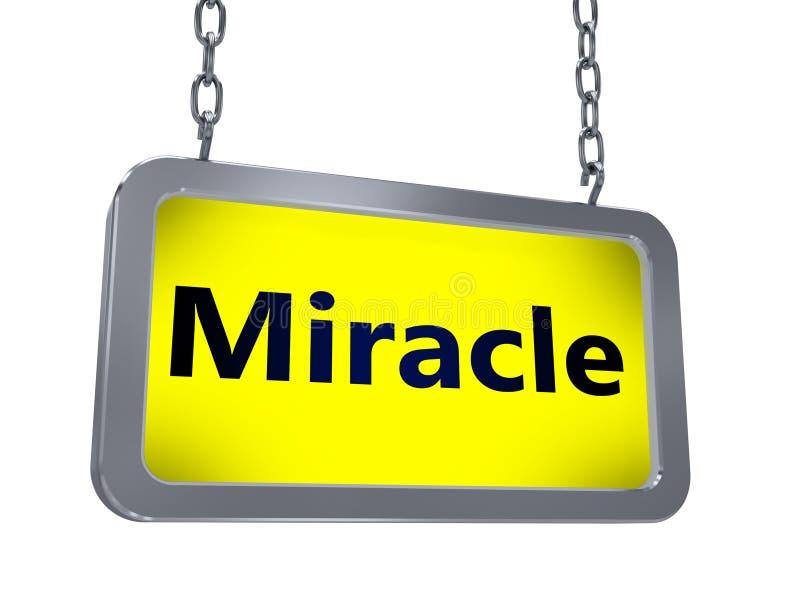 Mirakel op aanplakbord vector illustratie