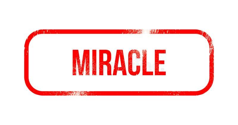 mirakel - rood grungerubber, zegel stock illustratie