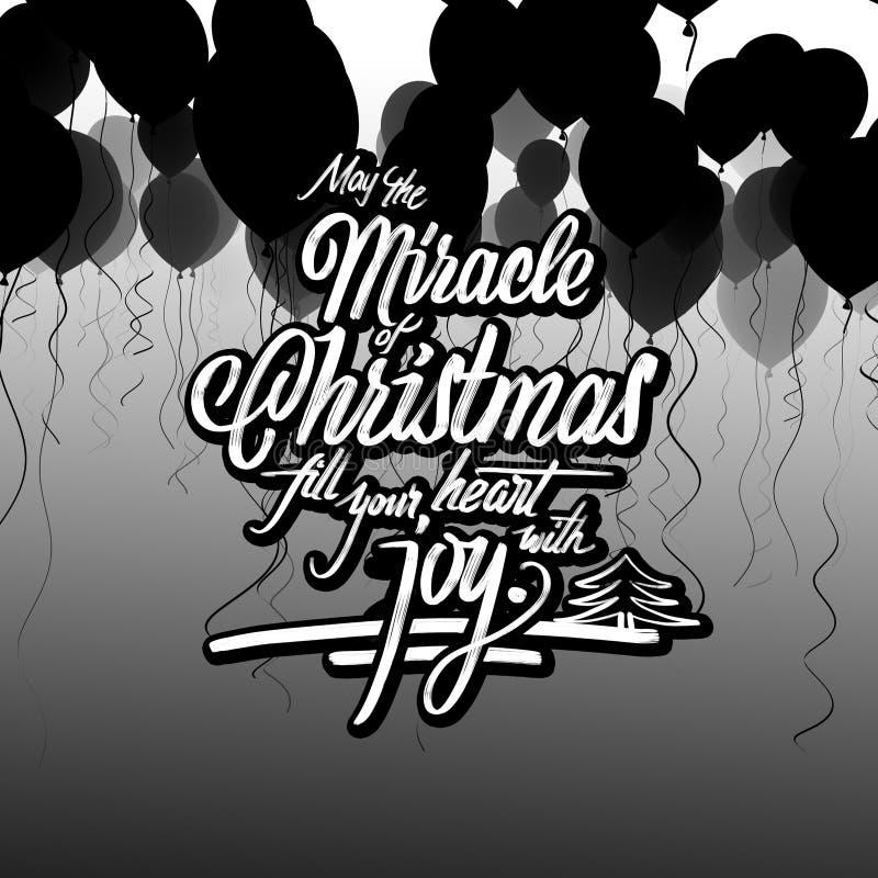 Mirakel van de kaart van de Kerstmisgroet vector illustratie