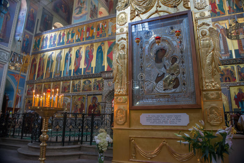 Mirakel-werkend pictogram van Heilig Virgin van Iver royalty-vrije stock foto