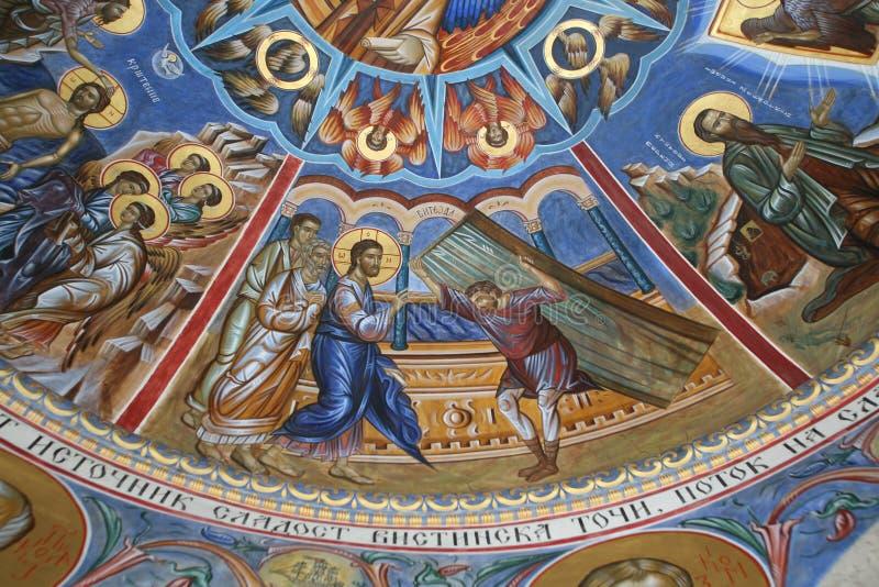 Mirakelen aan Jesus worden toegeschreven die stock foto's
