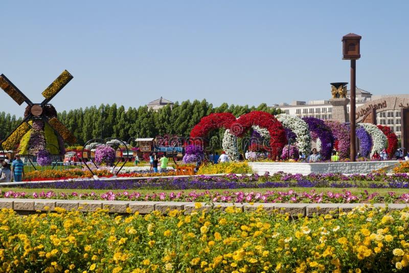 Mirakeltuin, Doubai royalty-vrije stock afbeelding