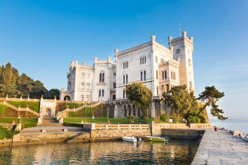 Miramare城堡的里雅斯特,意大利,欧洲。 库存照片
