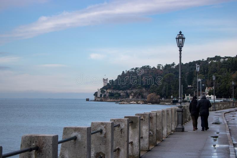 Miramare城堡,意大利 免版税图库摄影