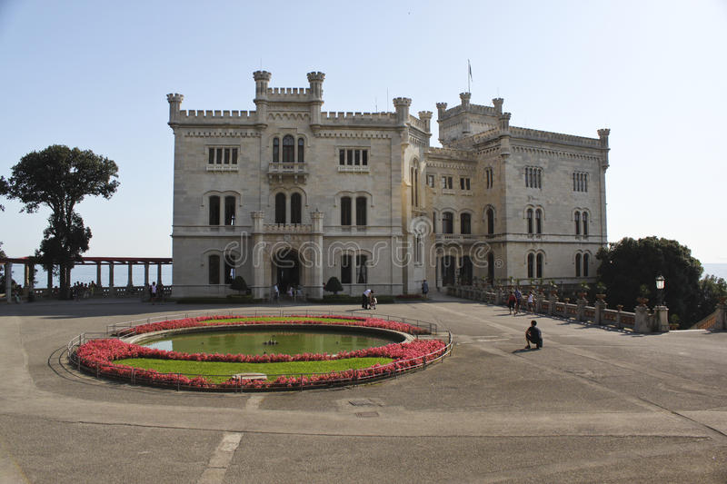 Miramare Castle,Trieste, Italy. Miramare Castle in Trieste, Italy royalty free stock images