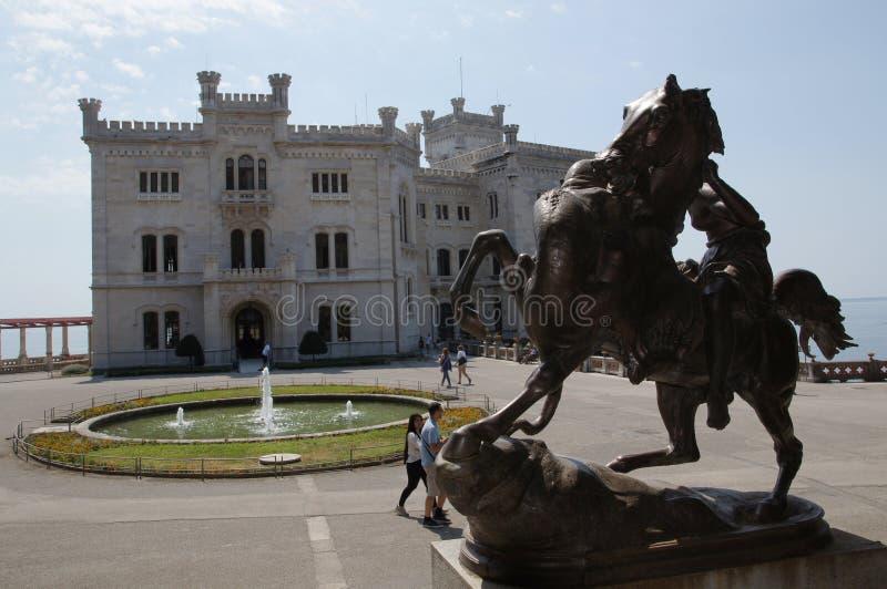 Miramare kasztel - Trieste, Włochy obraz stock