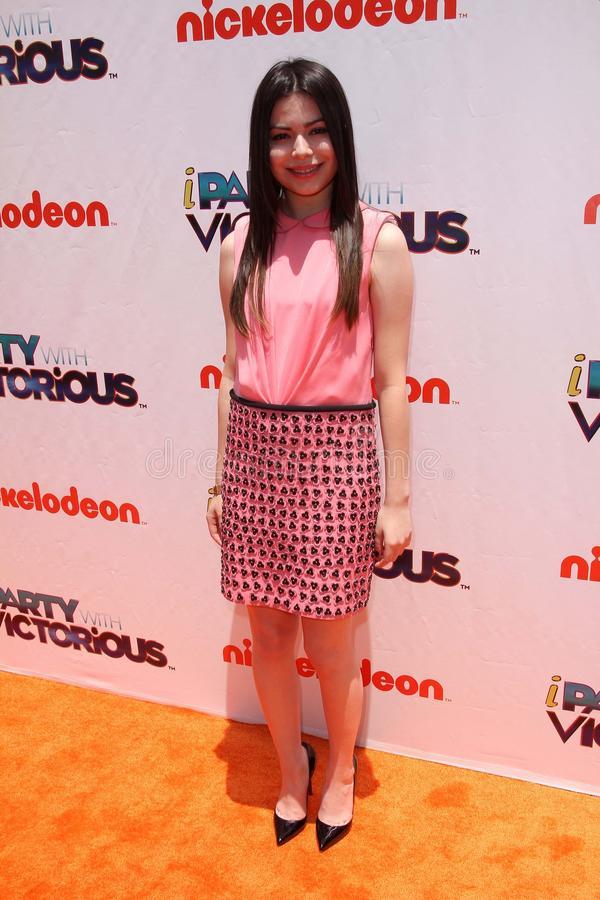 Miranda Cosgrove. At the iParty with Victorious Premiere Event, The Lot, Hollywood, CA. 06-04-11 royalty free stock photos