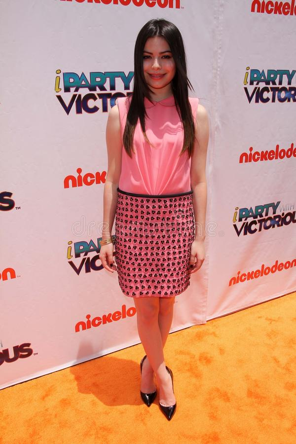 Miranda Cosgrove. At the iParty with Victorious Premiere Event, The Lot, Hollywood, CA. 06-04-11 royalty free stock photo