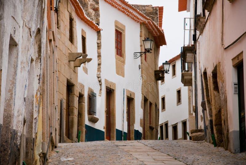 Miranda font la rue de Douro images stock