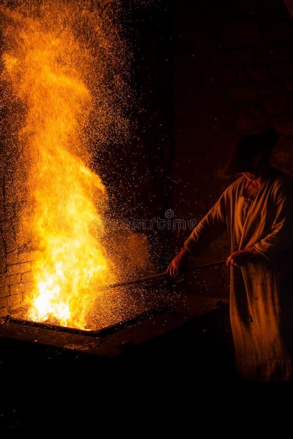 Mirandaola, fundição de ferro antiga que trabalha em Legazpia fotos de stock royalty free