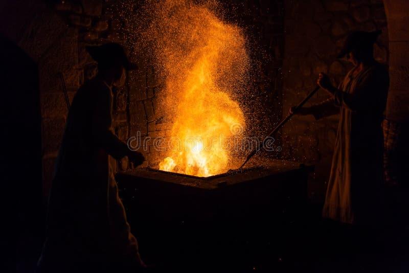Mirandaola, fundição de ferro antiga que trabalha em Legazpia imagens de stock royalty free