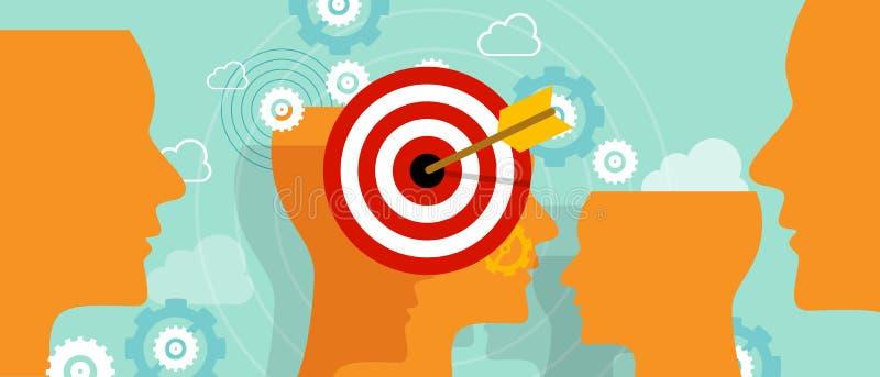 Mirando alla mente capa del cliente sistemi l'affare di concetto di vendita del mercato di obiettivo royalty illustrazione gratis