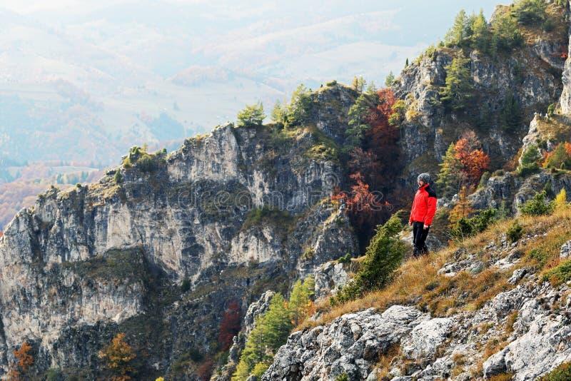 Mirando el otoño hermoso desde arriba fotografía de archivo libre de regalías