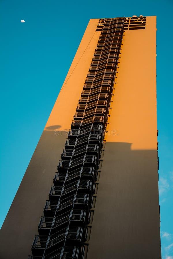 Mirante faz a construção do vale, em Sao Paulo foto de stock