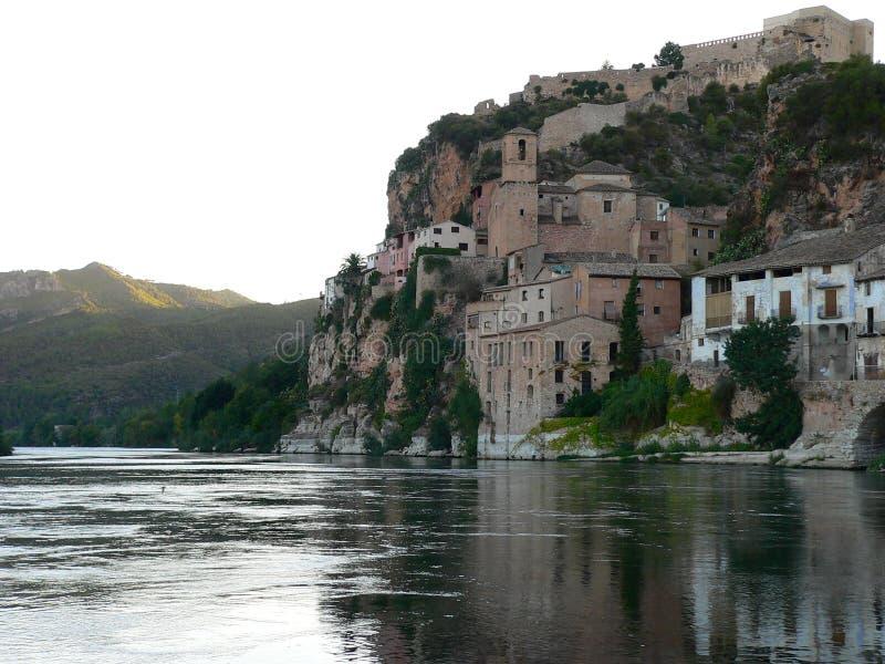 Miravet,塔拉贡纳(西班牙) 库存图片