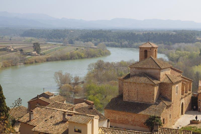Miravet dorp in Catalunya, Spanje royalty-vrije stock foto