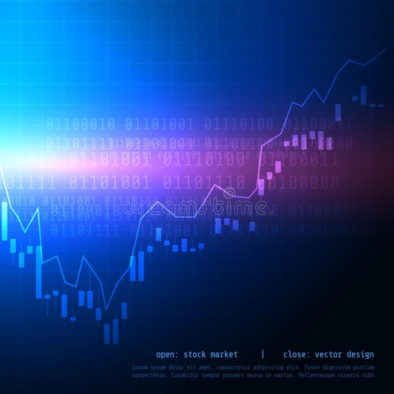mire al trasluz la carta comercial del mercado de acción del palillo con alto disparatado y sea libre illustration