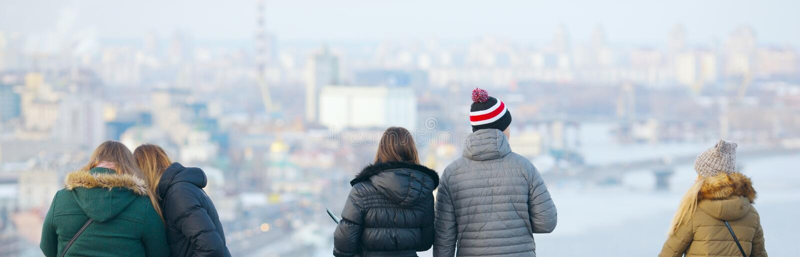 Mire la ciudad del alto foto de archivo libre de regalías