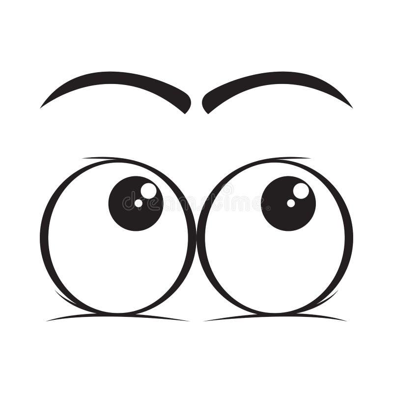 Mire para arriba la historieta de los ojos libre illustration