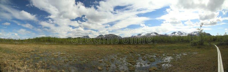 Mire przy Njakajaure w Lapland, Północny Szwecja zdjęcie royalty free