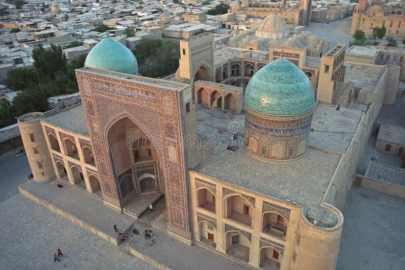 Miri arab Madrassah w Bukhara przy zmierzchem obraz royalty free