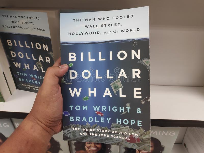 MIRI,MALAYSIA - CIRCA MARCH,2019 : Billion Dollar Whale book by Tom Wright and Bradley Hope at bookstore. MIRI,MALAYSIA - CIRCA MARCH,2019 : Billion Dollar stock photos