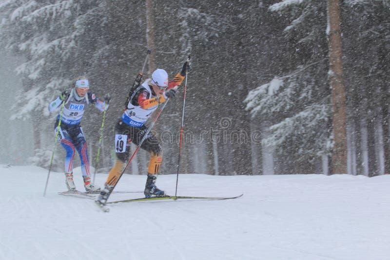 Miriam Goessner - biathlon royaltyfria foton