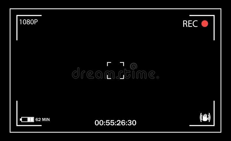 Mirino della macchina fotografica Interfaccia utente illustrazione vettoriale