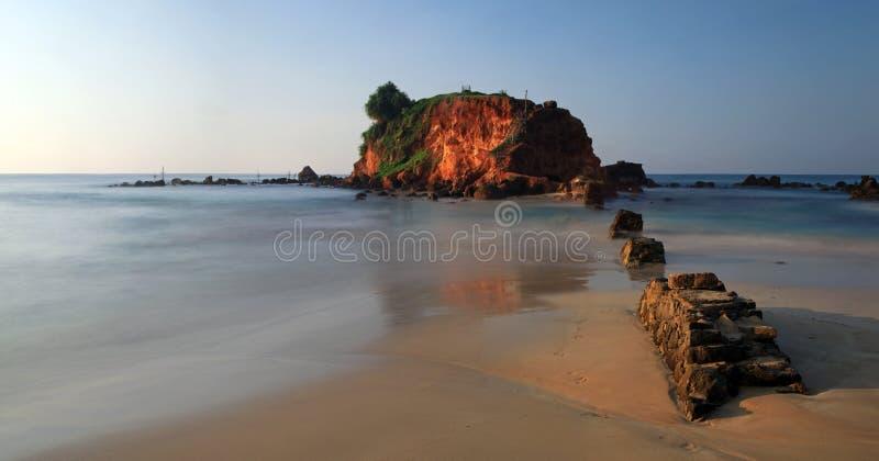 Mirisa海滩的,锡兰,斯里南卡小海岛 免版税库存图片
