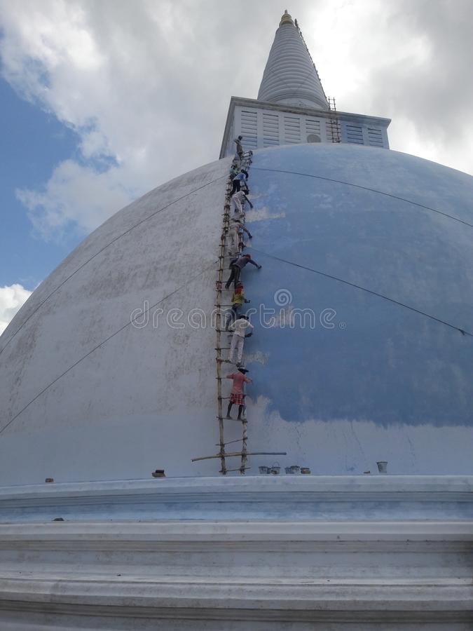 Mirisawetiya is a stupa built in the anuradhapura era. stock image