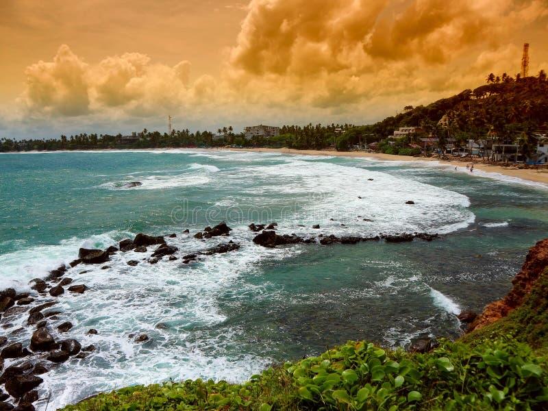 Mirissastrand in Sri Lanka royalty-vrije stock afbeelding