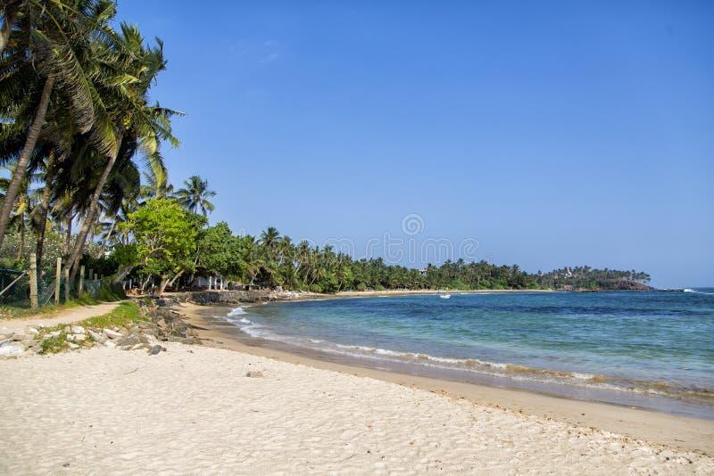 Mirissastrand in Sri Lanka royalty-vrije stock fotografie