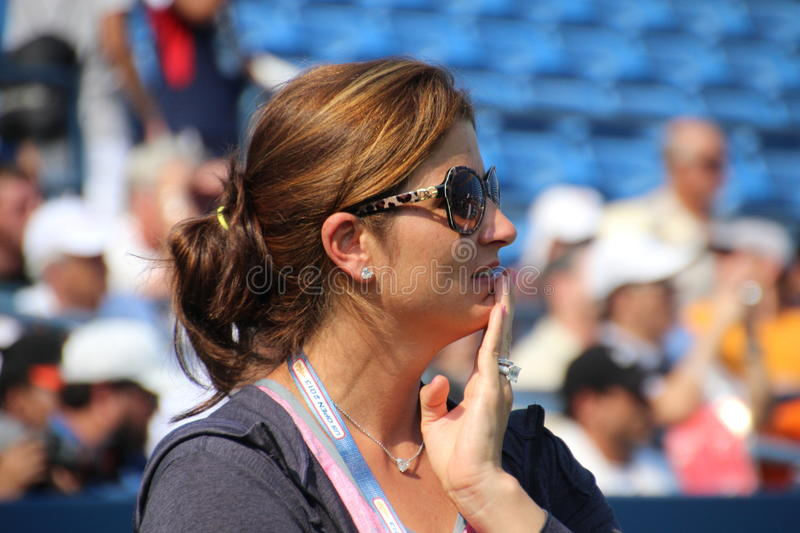 Download Mirka Federer editorial stock image. Image of open, compete - 33118269