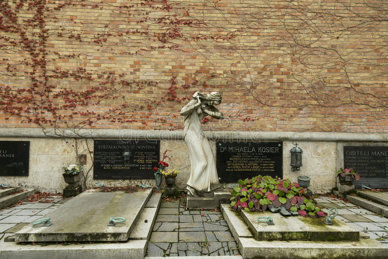 The Mirogoj Cemetery stock images