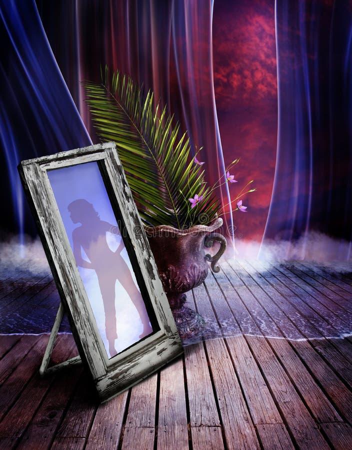 Miroir dans la chambre illustration de vecteur