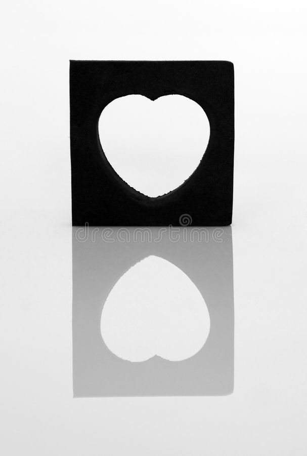 Miroir de coeur photo stock