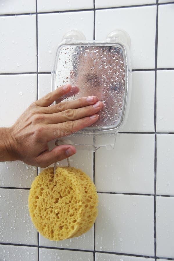 miroir de douche photo stock image du humide miroir. Black Bedroom Furniture Sets. Home Design Ideas